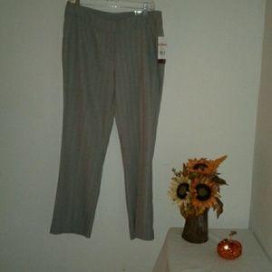 NWT Kim Rogers Gray Tweed Herringbone  Pants 12 P